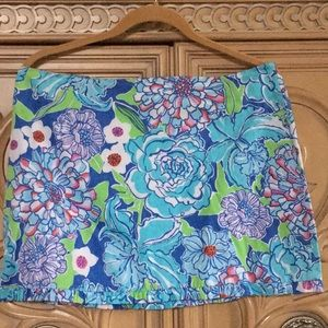 LILLY PULITZER Callie May Flowers Skirt nwot 10